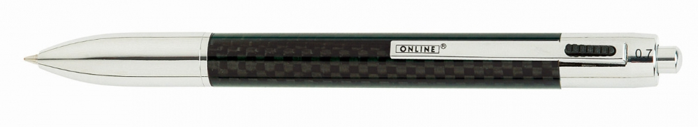 Online Carbon, multifunkční kuličkové pero
