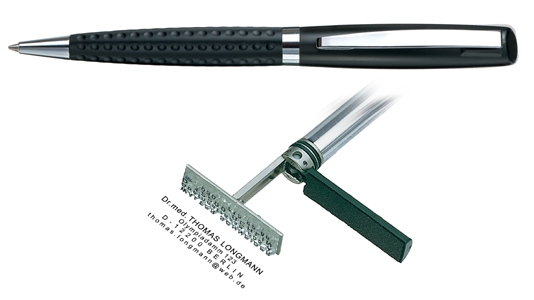 Heri Classic Grip Black, kuličkové pero s razítkem