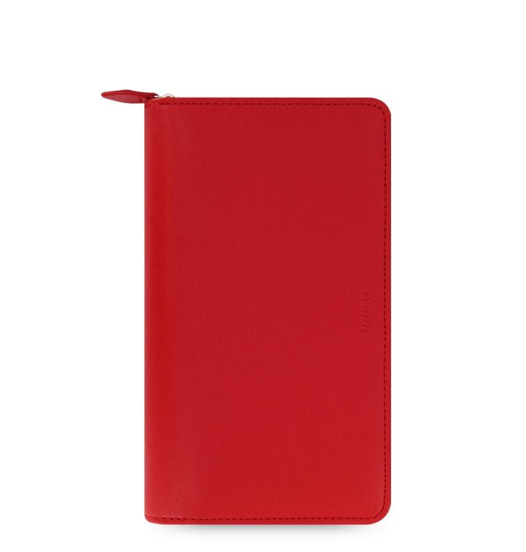 Diář Filofax Saffiano ZIP Compact červený