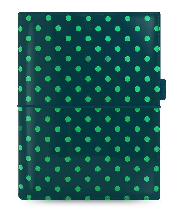 Diář Filofax Domino Patent A5 tmavě zelený