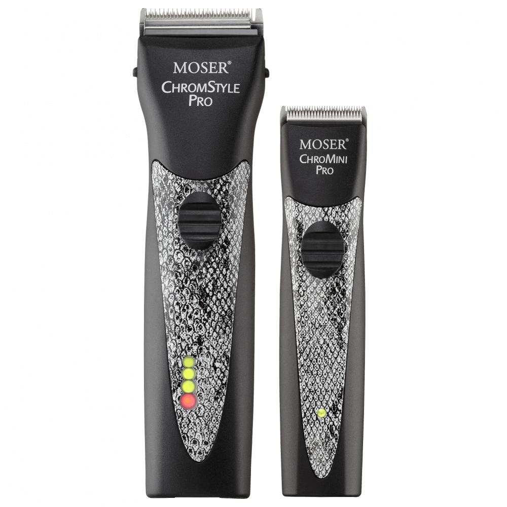 Souprava MOSER ChromeStyle + mini v hadí kůži 1871-0077