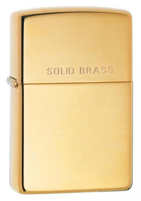 Zippo zapalovač 24001 Solid Brass
