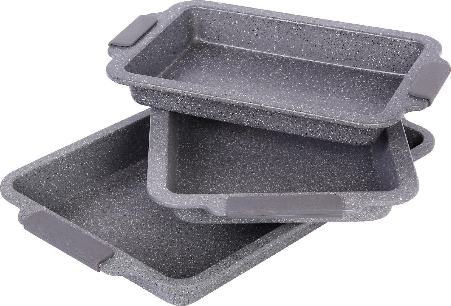 Royalty Line 3-dílný set pekáčů RL-BCC3 s granitovým povrchem Barva: šedá