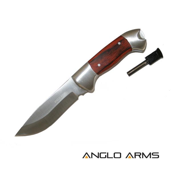 ANGLO ARMS Nůž Lovecký Pakkawood s Křesadlem