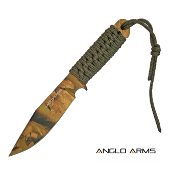 ANGLO ARMS Nůž Laced Boot Knife & Sheat Camouflage