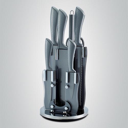 Royalty Line 8-dílná STONE coating sada nožů, nůžek a ocílky RL-KSS8 Barva: šedá