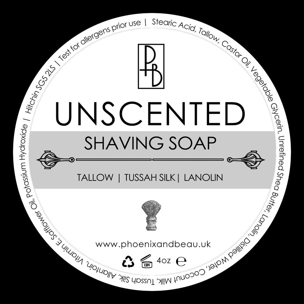 Phoenix and Beau Unscented mýdlo na holení