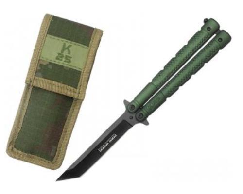 Nůž motýlek RUI Tactical - K25 36249 zelený