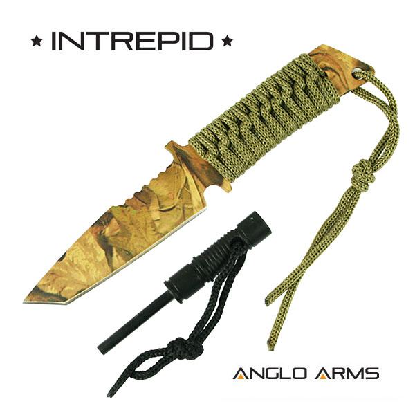 ANGLO ARMS Nůž INTREPID Camouflage s Křesadlem