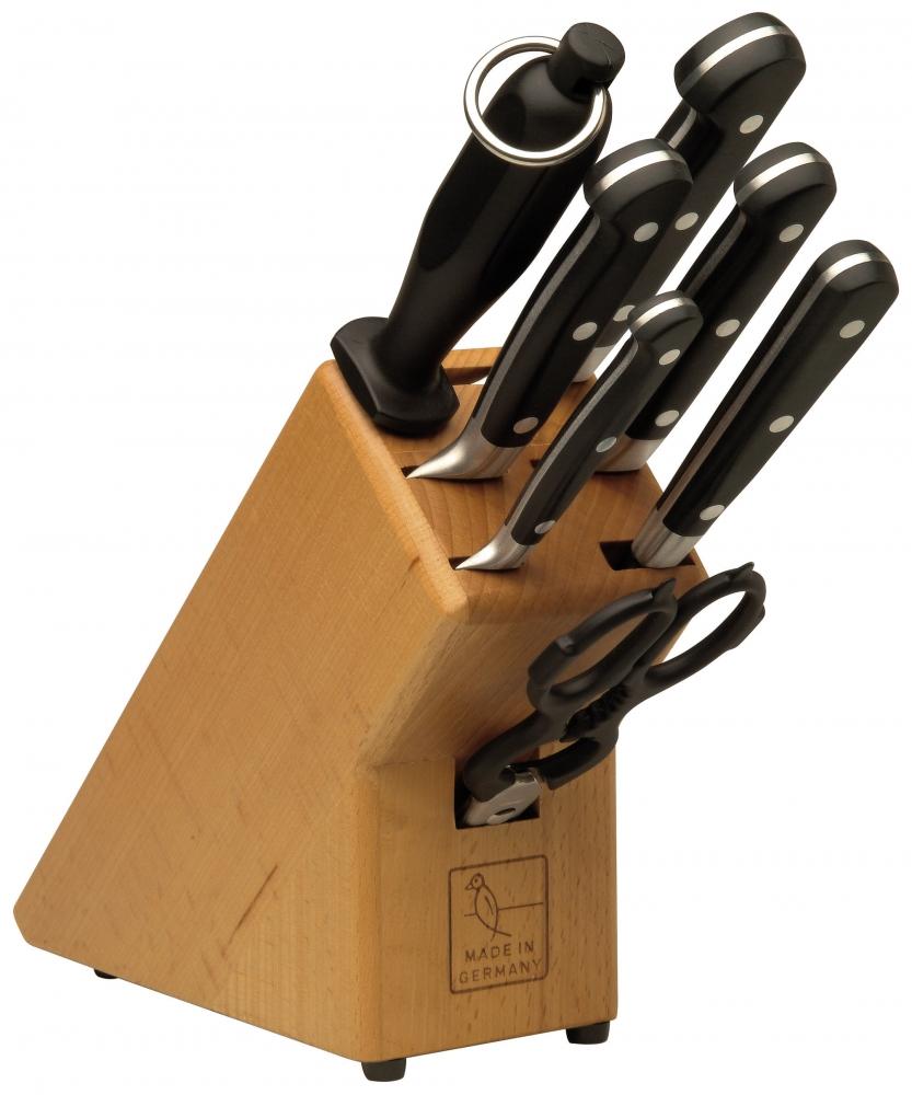 Burgvogel Comfort Line blok s noži 7 dílný