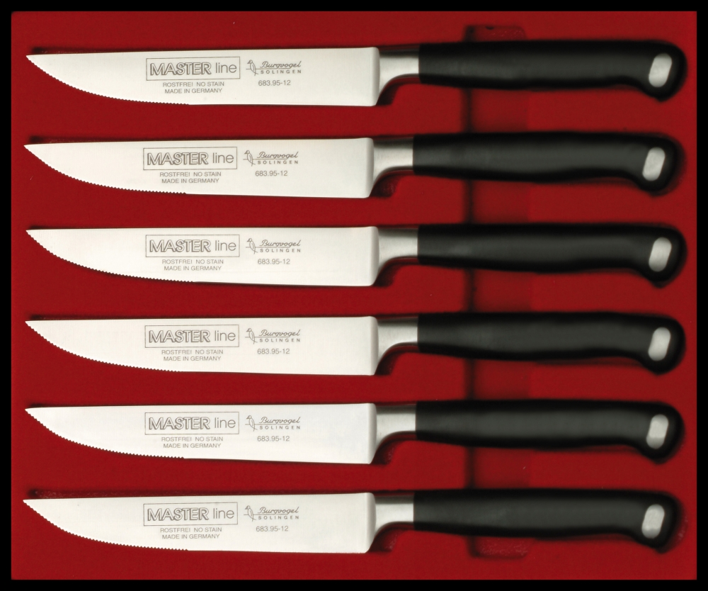 6 dílná sada steakových nožů Burgvogel Solingen