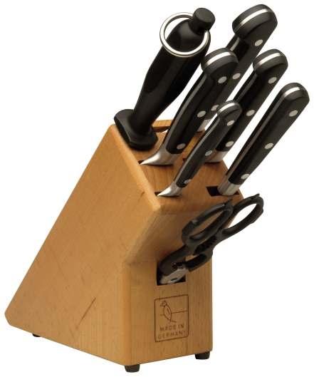 Dřevěný blok nožů Burgvogel Solingen 1463.911.00.0 - 7 dílný