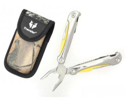Nářaďový nůž Traveler chrom/žlutý