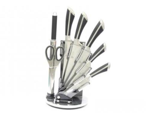 Sada kuchyňských nožů 9665 černá/stříbrná