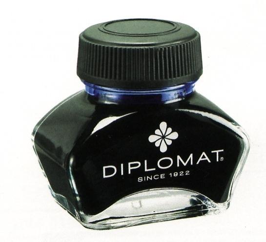 Diplomat Black, černý lahvičkový inkoust