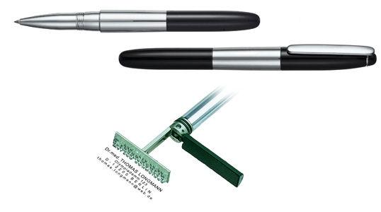 Heri New Promesa Chrome Black, keramické pero s razítkem
