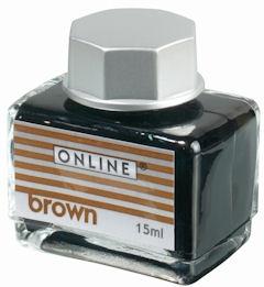 Online Brown, hnědý lahvičkový inkoust