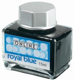 Online Royal Blue, modrý lahvičkový inkoust