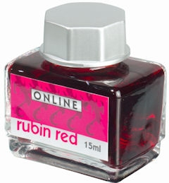 Online Rubin Red, červený lahvičkový inkoust