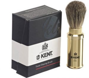 Kent TR4 Bronze Pure Badger, cestovní štětka na holení