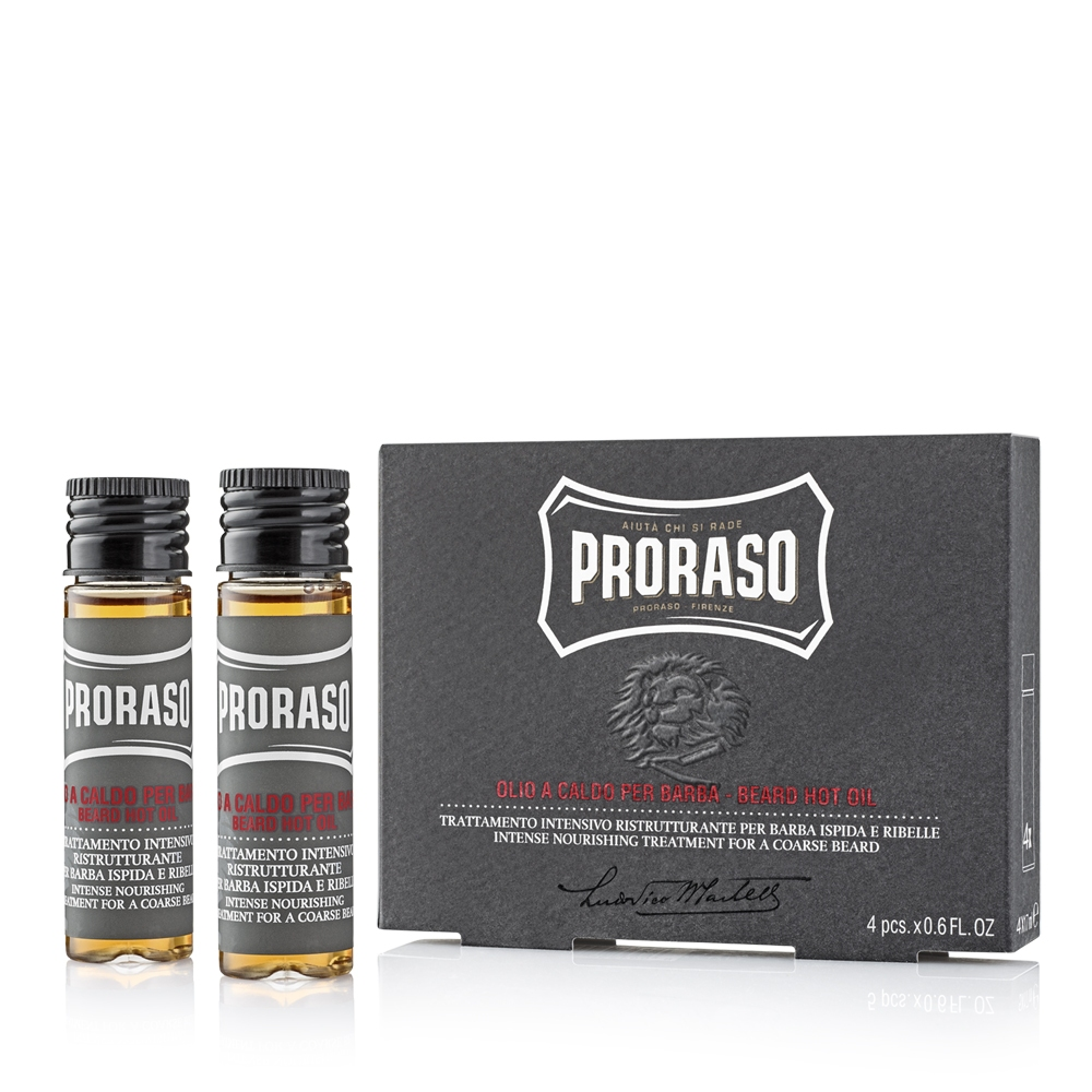 Proraso Hot olej na vousy 4x17 ml
