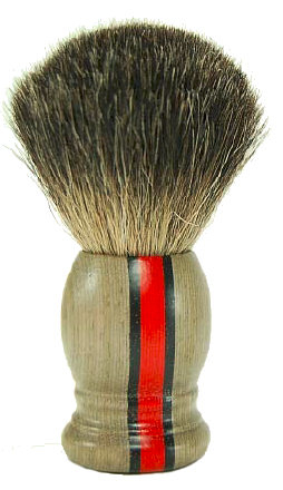 Hans Baier Laminated Wood Red Stripe Pure Badger
