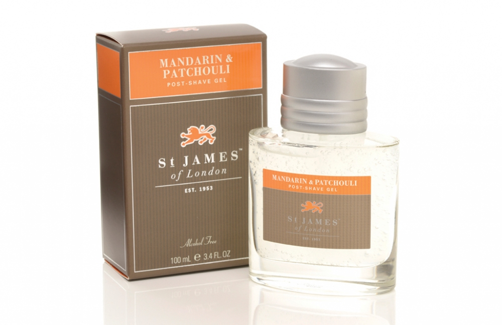 St James of London Mandarin & Patchouli, gel po holení