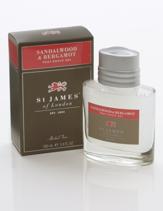 St James of London Sandalwood & Bergamot, gel po holení